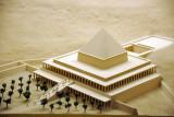 Model of Mentuhotep II's tomb and mortuary temple at Deir el-Bahri ca 2010 BC