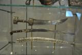 18th C. Turkish dagger (Jambiya) and inward curved sword (Yatagan) 1866
