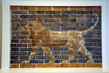Brick wall relief of a lion, central Mesopotamia (Iraq) from the Palace of King Nebuchadnezzar II, ca 600 BC