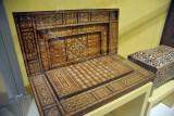 19th C. Egyptian or Syrian backgammon set