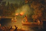 Fishing by Torch Light, Menominee, Fox River WI, Paul Kane (1849-1956)