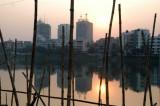 Gulshan Lake at sunset, Dhaka