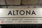 Altona, a major railway station in Hamburg