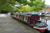 Canal boat on the Bridgewater Canal, Manchester-Castlefield