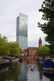 The Manchester Hilton with the Bridgewater Canal