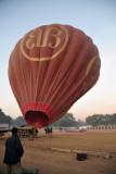 The balloon rises