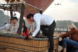 Boarding the balloon