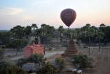 Flying low over Bagan