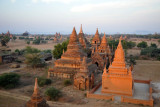 Flying at an altitude of maybe 50 feet over the Central Plain, Bagan