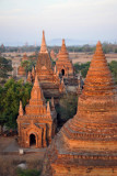 Low flight over the temples of Bagan