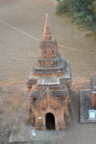 Small temple on the edge of a plowed field
