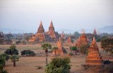 Central Plains of Bagan including Mahazedi Pagoda, the large one on the left