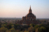 Gaining a little altitude as we float past Sulamani Temple, Bagan