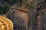 Basket directly over a stupa, Bagan