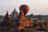 The second balloon behind a temple