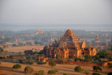 Aerial view of Dhammayangyi Temple with Ananda Phaya and Old Bagan in the background