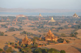 The major temples south of Old Bagan including the white stupa of Shwesandaw Phaya