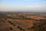 Southern Plains of Bagan from an alititude of around 500 ft