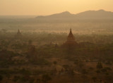 Gold stupa of Dhammayazika Pagoda, 1196 AD, Bagan - West Pwasaw