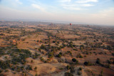 Aerial view looking north across the Plains of Bagan