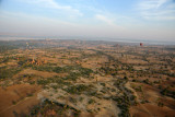 Aerial view of the Plains of Bagan by Balloon