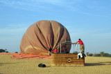 Packing up the balloon