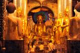 Golden Buddhas, Shwedagon Paya