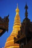 Main zedi illumination, Shwedagon Paya