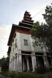 Decaying monastic buildings at Ngahtatgyi Paya