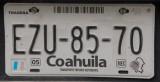 Mexican License Plate - Coahuila