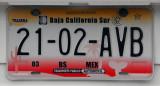 Mexican License Plate - Baja California Sur