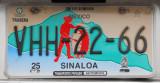 Mexican License Plate - Sinaloa