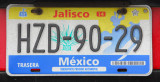 Mexican License Plate - Jalisco