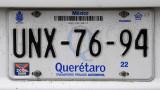 Mexican License Plate - Querétaro
