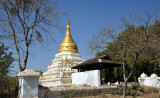 It seems that the ancient stupa ruins are being restored here