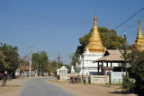 The road from Mandalay Airport to the ancient cities of Inwa and Sagaing (N21 46.63/E095 58.71)