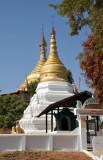 Restored stupa (zedi) between Mandalay Airport and Tada-U