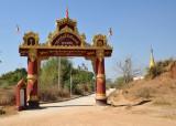 Gateway to a monastery south of Tada-U (N21 47.22/E095 58.76)