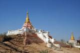 The landscape around Tada-U near Mandalay International Airport is scattered with old temples, many of which have been restored