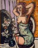 Woman with Mirror and Orchids, 1947, Max Beckmann (1884-1950)