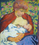 Young Mother, 1910, Giovanni Giacometti (1868-1933)