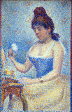 Young Woman Powdering Herself, 1889, Georges Seurat (1859-1891)