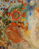 Two Young Girls among Flowers, ca 1905-12, Odilon Redon (1840-1916)