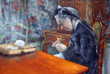 Mlle Boissière Knitting, 1877, Gustave Caillebotte (1848-1894)