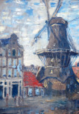 Detail of the Onbekenede Gracht Windmill, Monet
