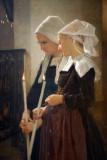 Breton Girls at Prayer, William A. Bouguereau (1825-1905)