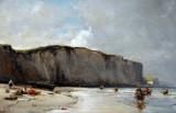 View along the Norman Coast, 1852, Eugène Isabey (1803-1886)