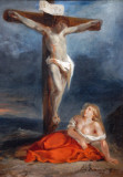 St. Mary Magdalen at the Foot of the Cross, 1829, Eugène Delacroix (1798-1863)