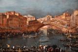 Regatta at the Rialto Bridge, Venice 1770s, Francesco Guardi (1712-1793)