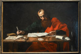 St. Paul Writing His Epistles ca 1618-20, attributed to Valentin de Boulogne (1591-1632)